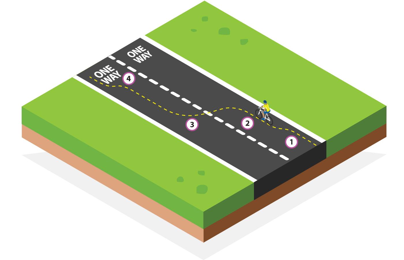One way change lane
