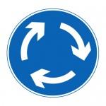 Mini roundabout ahead