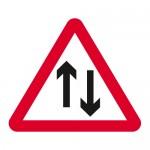 Warning two way traffic