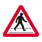 Warning pedestrian crossing