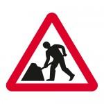 Warning road works