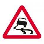 Warning slippery road