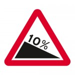 Warning steep hill downwards