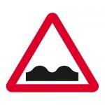 Warning uneven road
